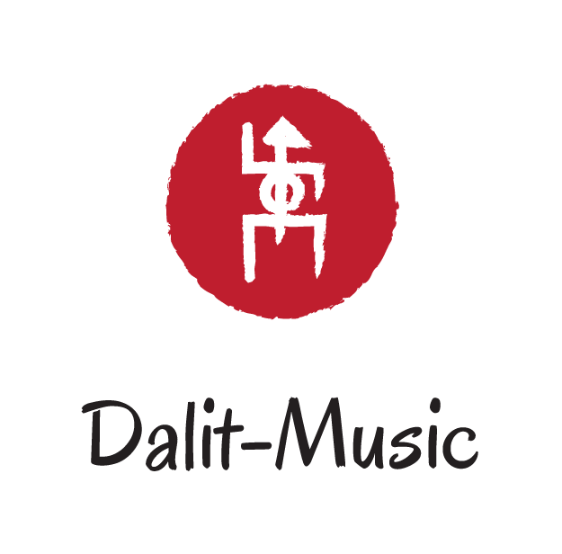 Dalit Music logo red vertical